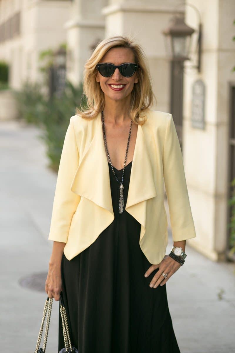 little-Black Dress With Lemon Drop Jacket-Jacket-societyt-4328