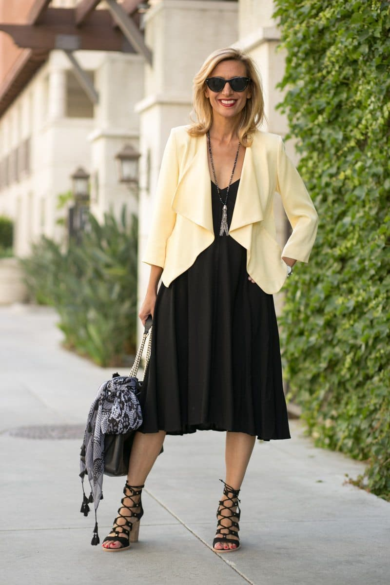 little-Black Dress With Lemon Drop Jacket-Jacket-societyt-4331