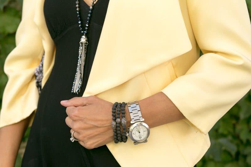 little-Black Dress With Lemon Drop Jacket-Jacket-societyt-4340
