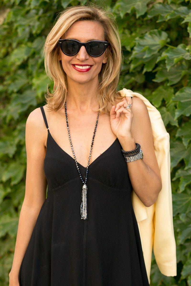 little-Black Dress With Lemon Drop Jacket-Jacket-societyt-4355