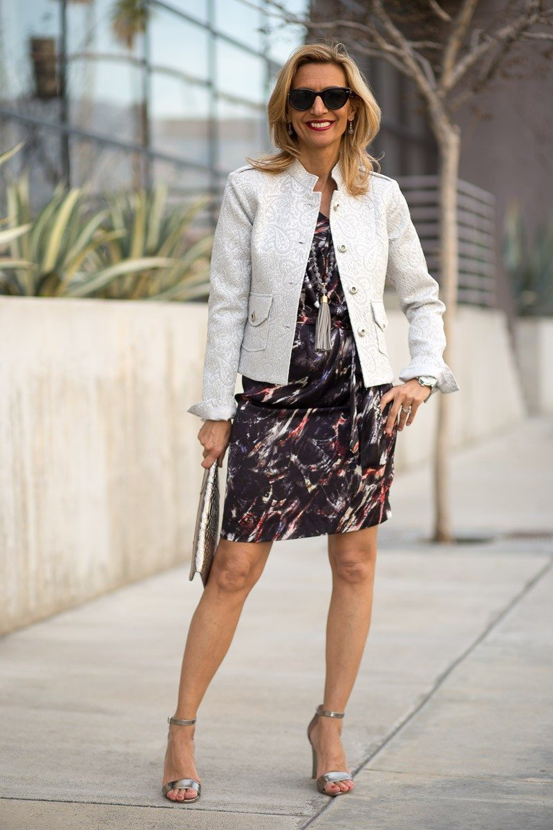silver paisley jacket for women